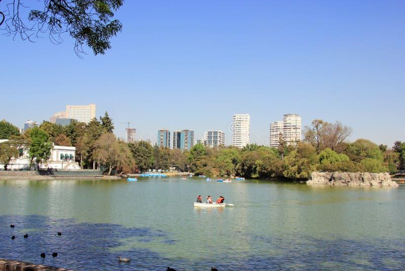 查普特佩克公园,墨西哥城 免版税库存照片