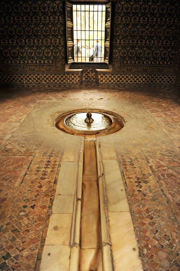 查理五世,城堡宫殿亭子在塞维利亚,西班牙 免版税库存照片
