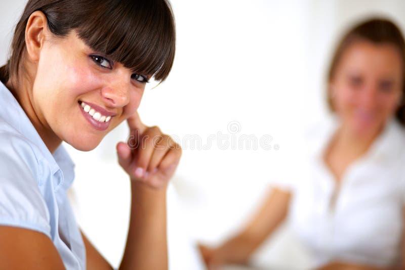 查看您的西班牙新女实业家 免版税库存图片