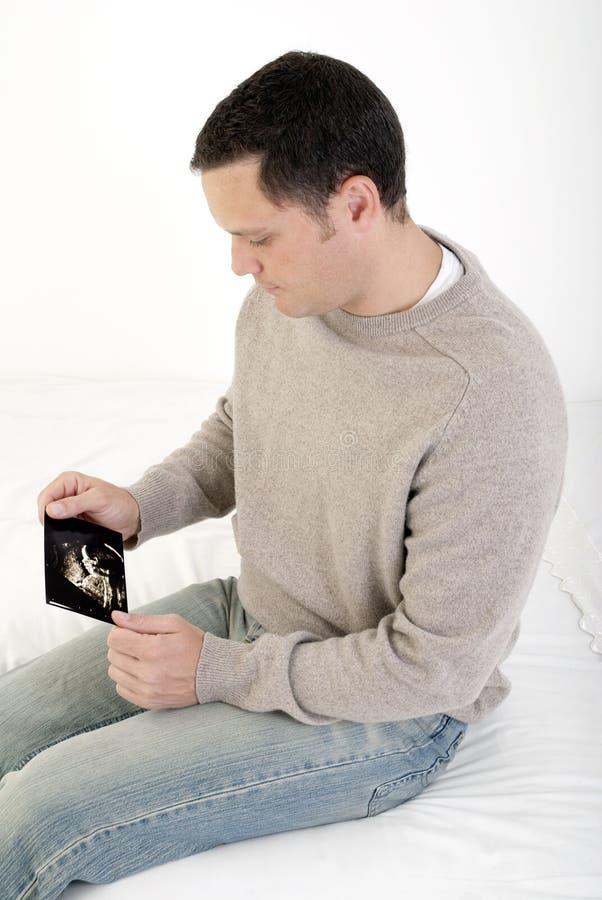 查看超声波的父亲 免版税图库摄影