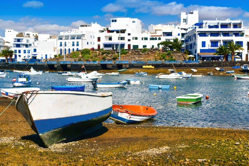查科de圣希内斯,阿雷西费,兰萨罗特岛,加那利群岛,西班牙 免版税库存图片