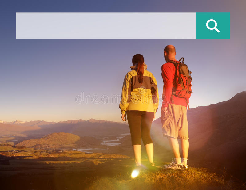 查寻箱子网网上浏览搜寻的概念 库存照片