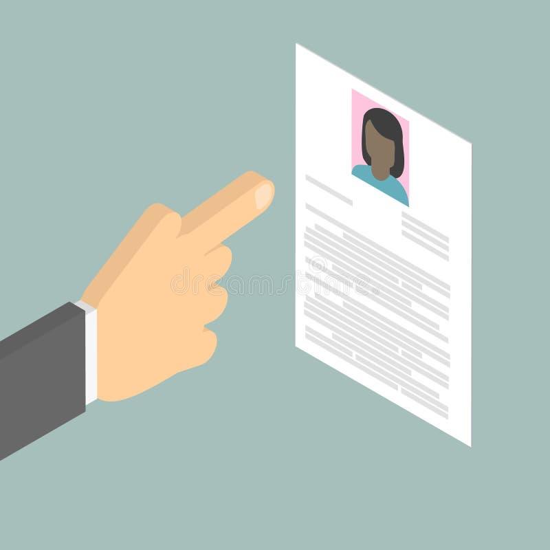 查寻雇员查寻非裔美国人的妇女 汇总 Vec 向量例证