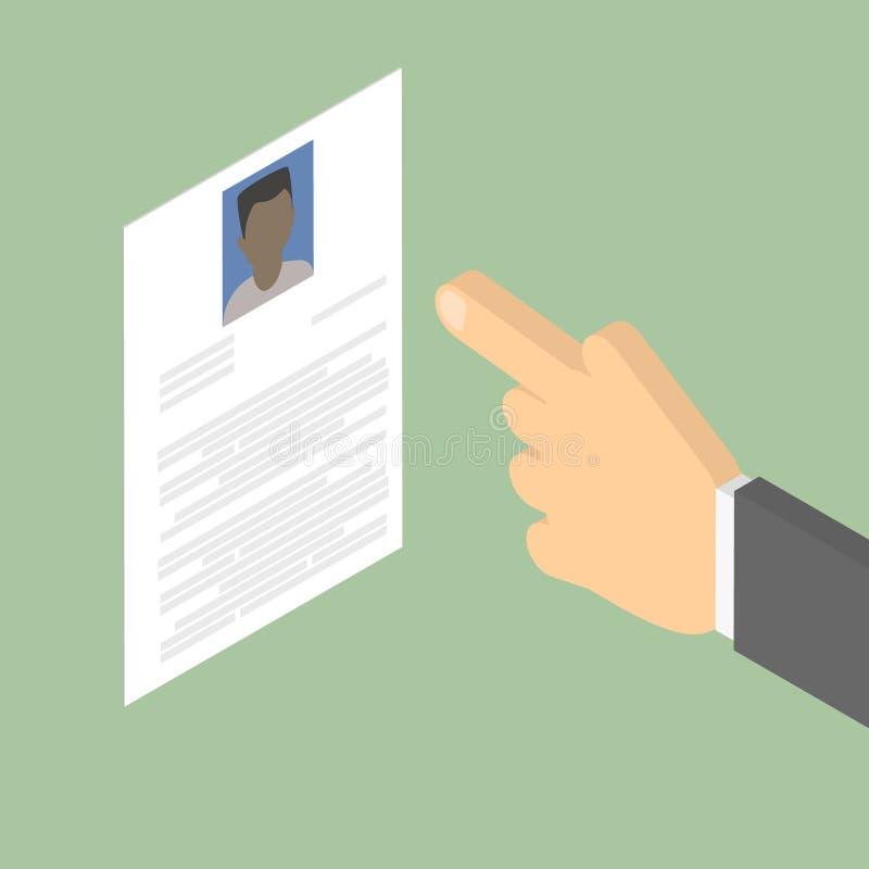 查寻雇员 查寻非裔美国人的人 汇总 库存例证