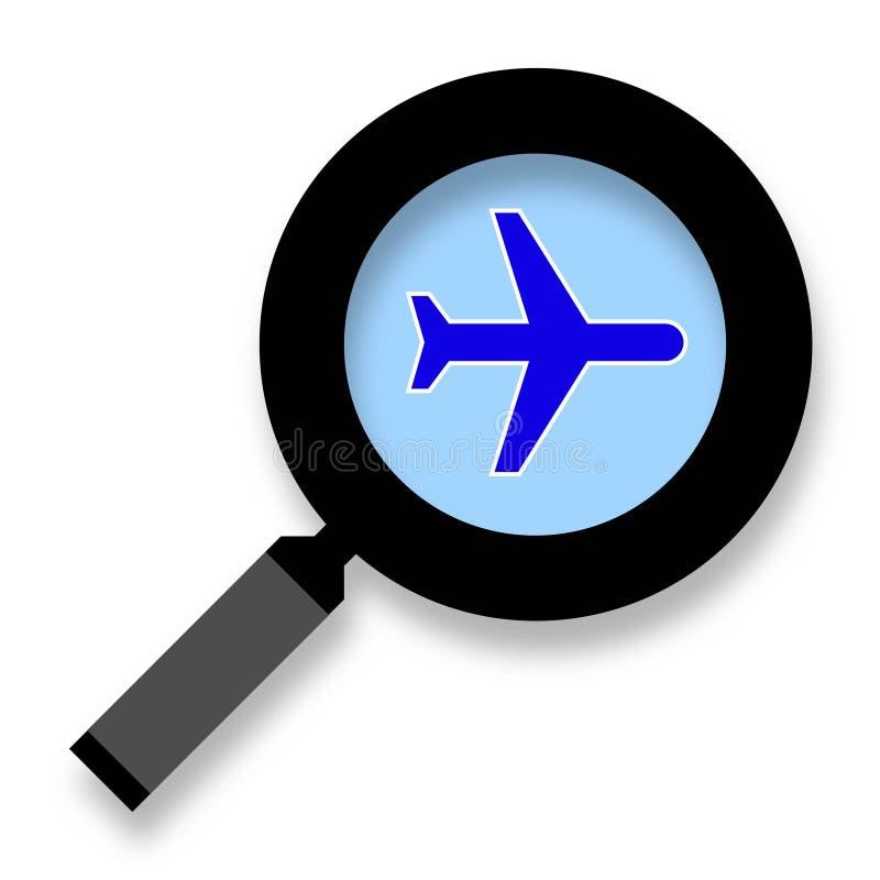 查寻飞机票象传染媒介 库存例证