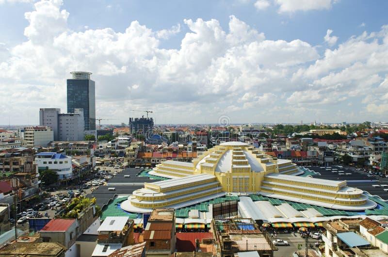 柬埔寨主要市场penh phnom psar thmei 图库摄影
