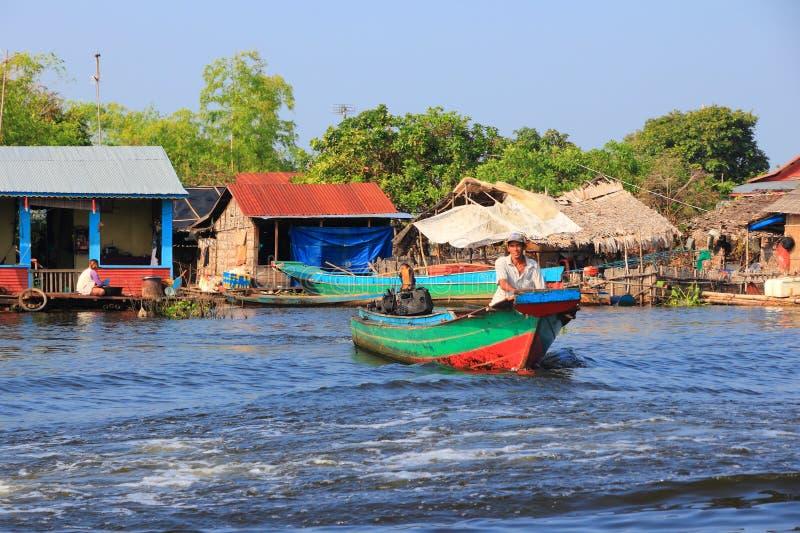 柬埔寨乡下 库存照片