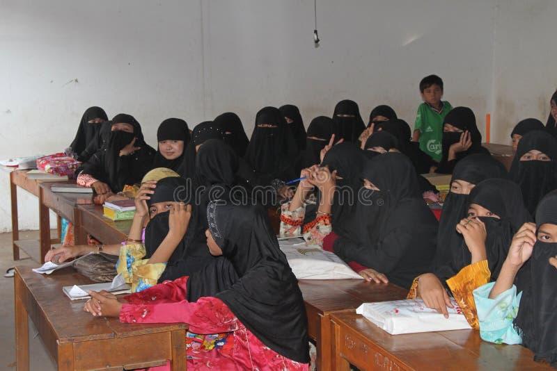 柬埔寨伊斯兰学员 免版税库存图片