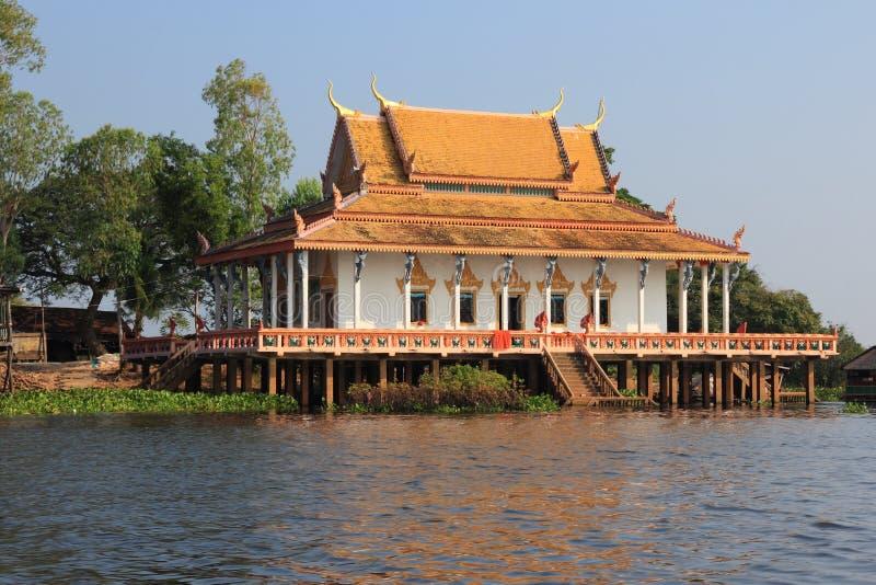 柬埔寨佛教寺庙 库存照片