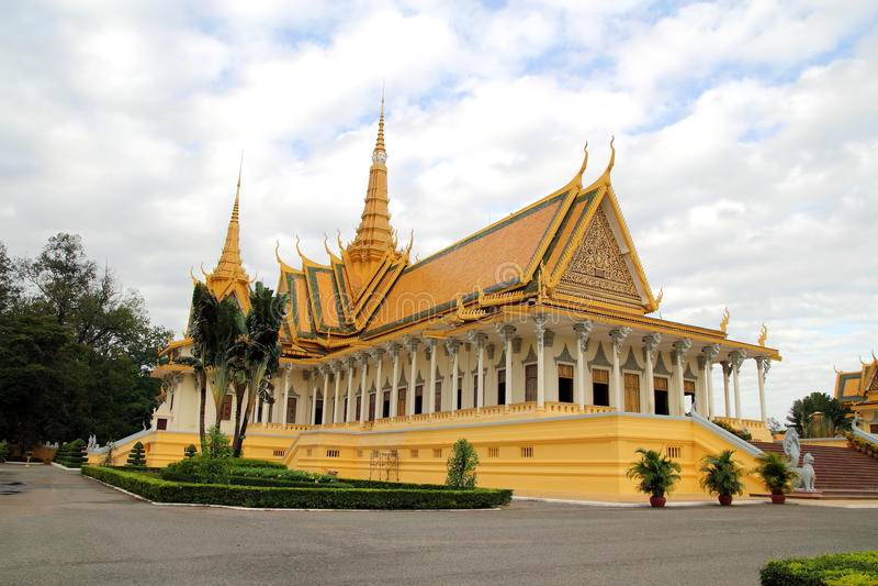 柬埔寨全部宫殿 图库摄影