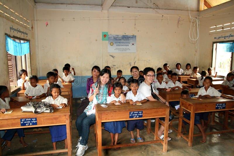 柬埔寨学校 免版税库存照片