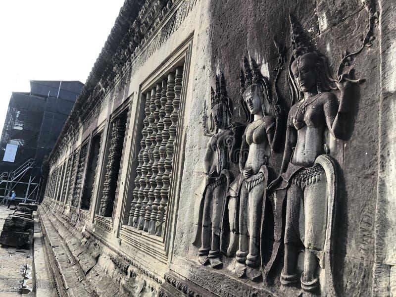 柬埔寨小吴哥窟菩萨Buddharupa 免版税库存图片