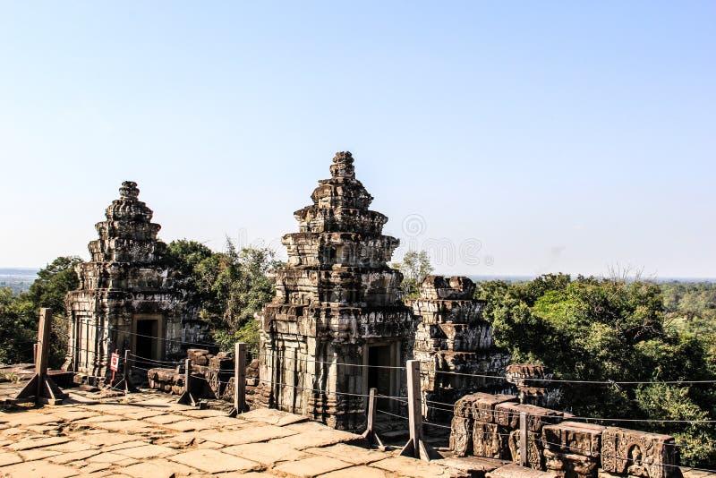 柬埔寨暹粒市巴肯寺Wat 免版税库存图片