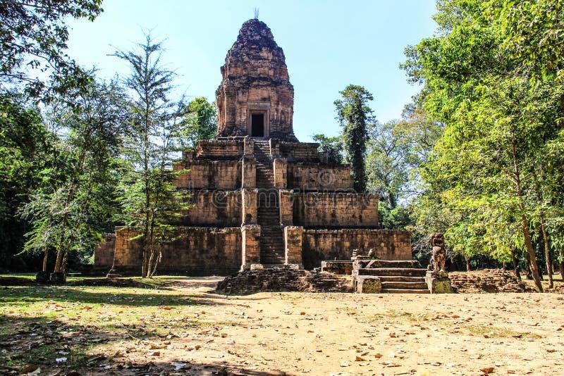柬埔寨暹粒市Baksei Chamkrong 免版税库存图片