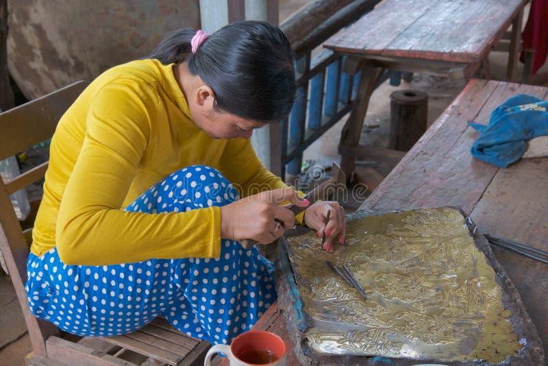 柬埔寨村庄 库存图片