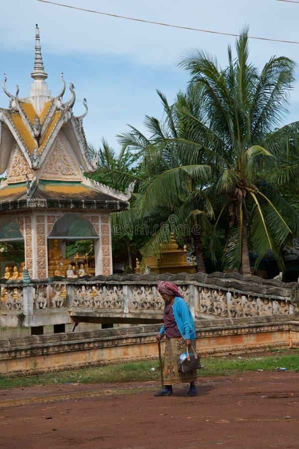 柬埔寨村庄 免版税图库摄影
