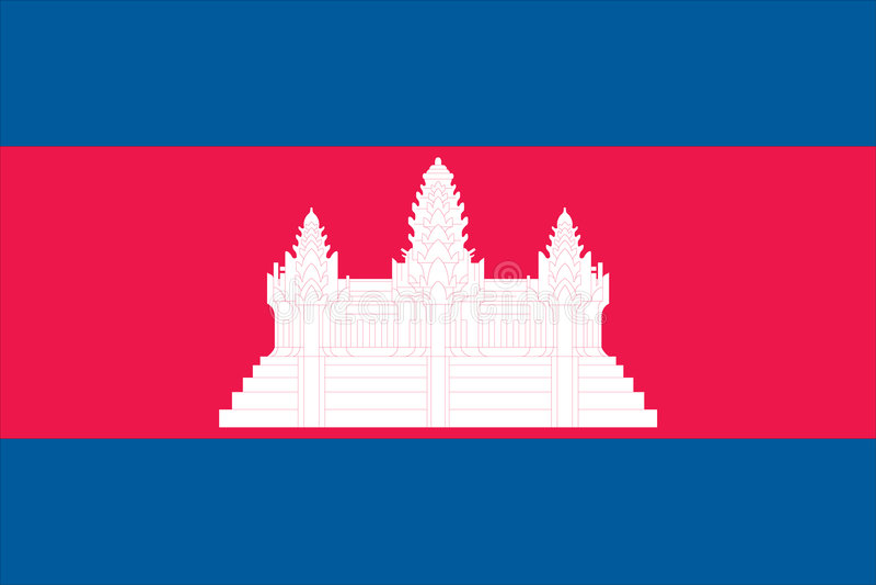 柬埔寨标志 皇族释放例证