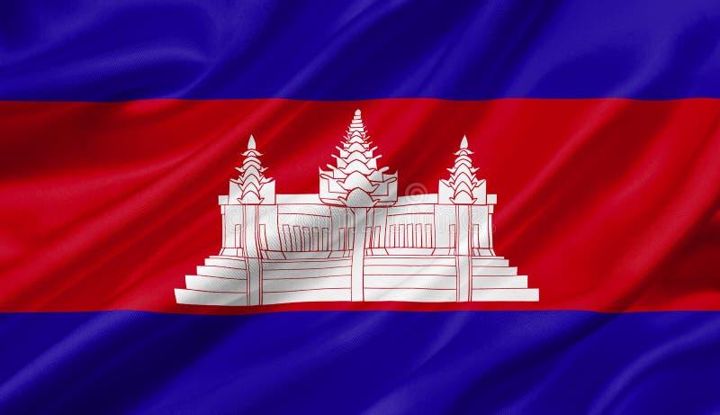 柬埔寨沙文主义情绪与风, 3D例证 皇族释放例证
