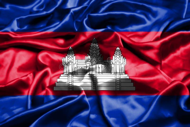 柬埔寨沙文主义情绪在风 向量例证
