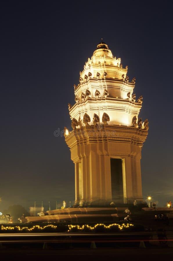 柬埔寨独立纪念碑penh Phnom 库存照片