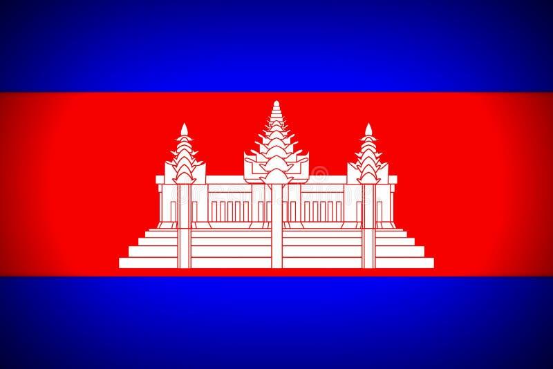 柬埔寨的国旗 皇族释放例证