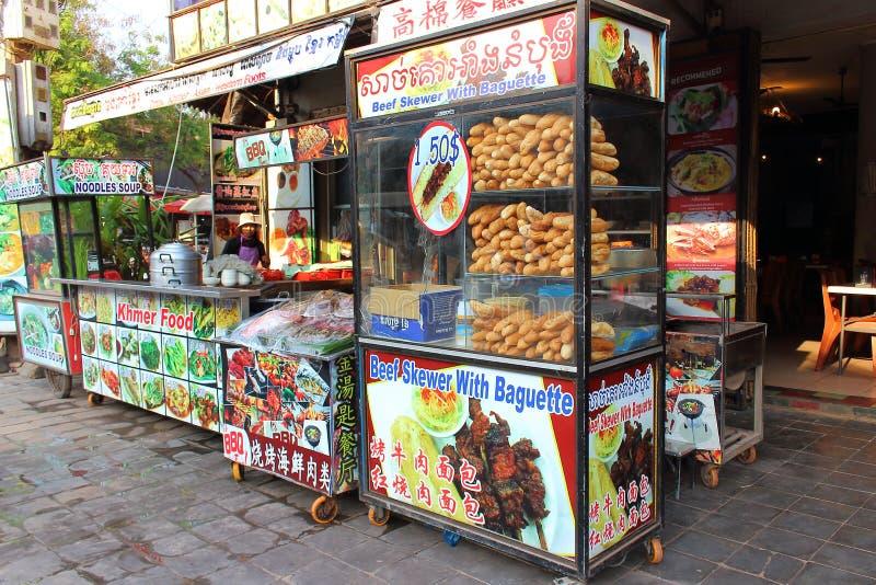 柬埔寨街道食物 免版税库存照片