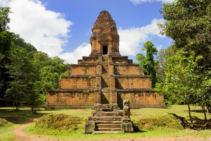 柬埔寨金字塔寺庙 库存照片