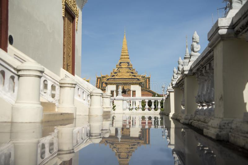 柬埔寨金边王宫银塔 库存图片