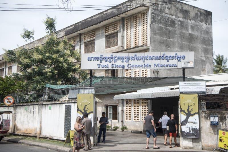 柬埔寨金边TUOL SLENG博物馆 免版税图库摄影