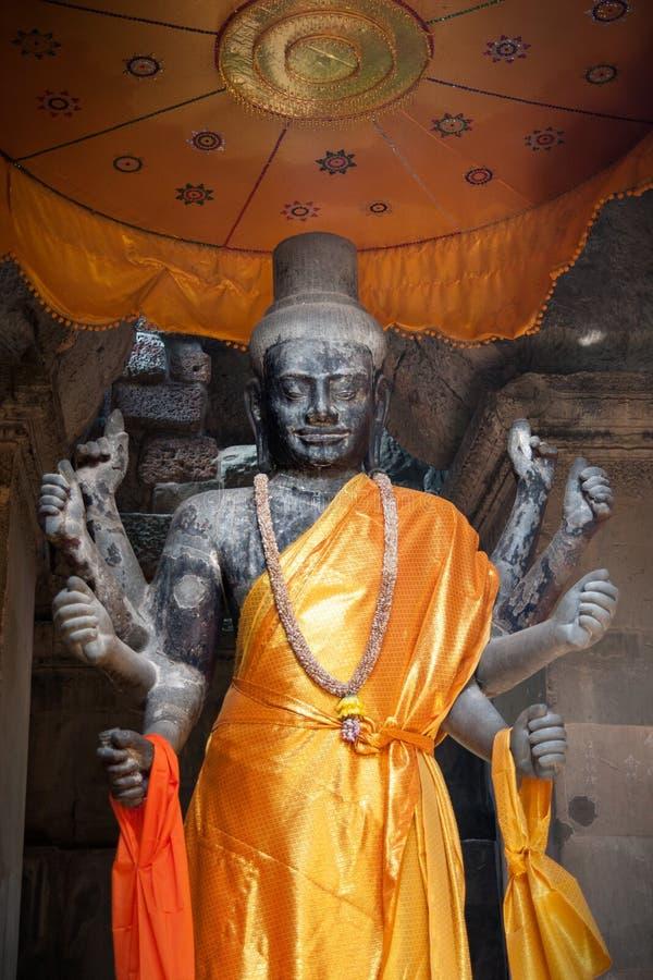 柬埔寨雕象vishnu 免版税库存图片