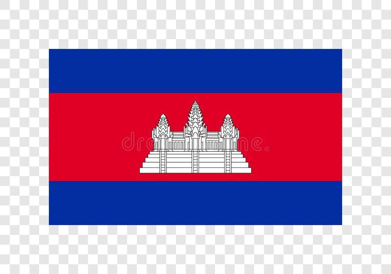柬埔寨-国旗 向量例证