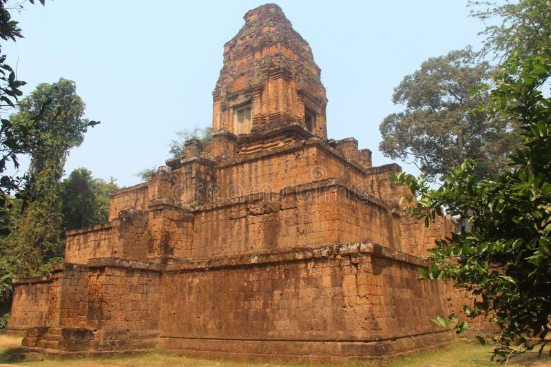 柬埔寨 Baksei Chamkrong寺庙 暹粒市 暹粒省 图库摄影