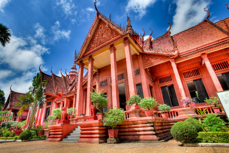 柬埔寨hdr博物馆国民 库存照片