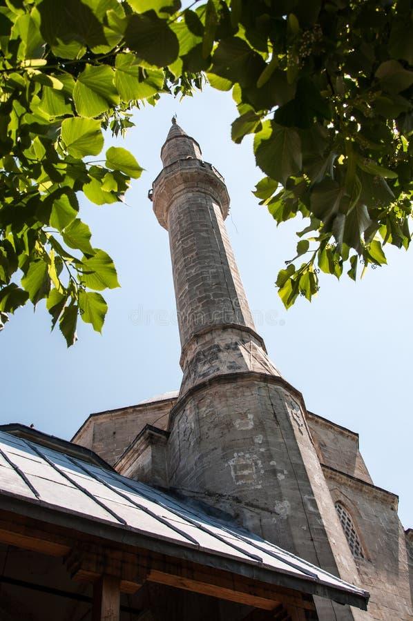 柯斯基Mehmed巴夏清真寺塔尖塔  免版税库存图片