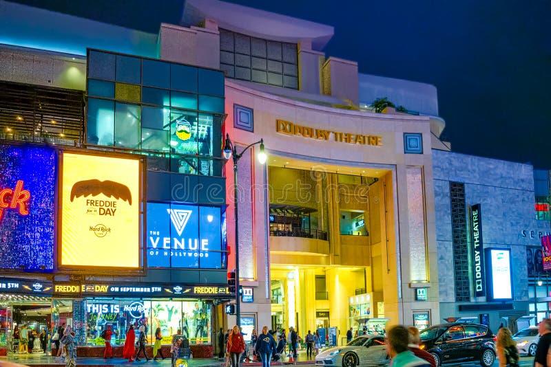 柯达提出每年奥斯卡金象奖的剧院杜比 库存照片