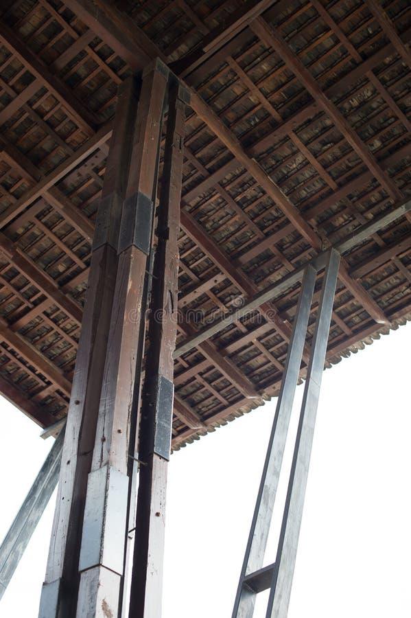 柱子和天花板屋顶 库存图片