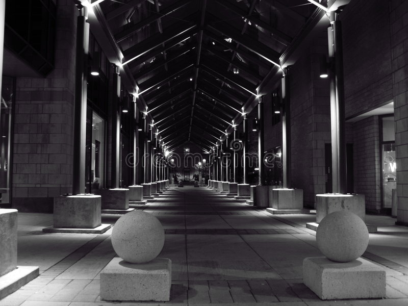 柱子隧道 库存图片