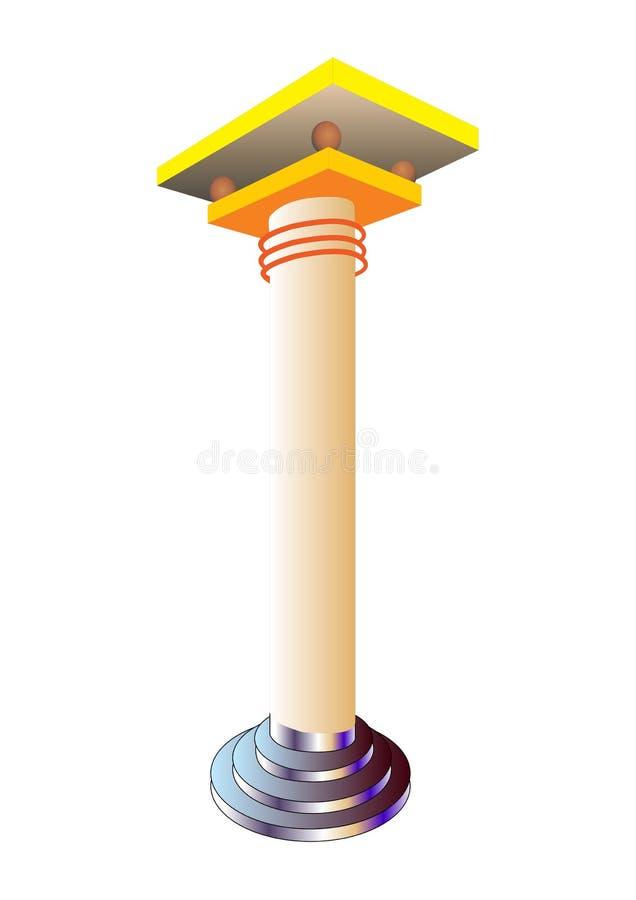 柱子 库存例证