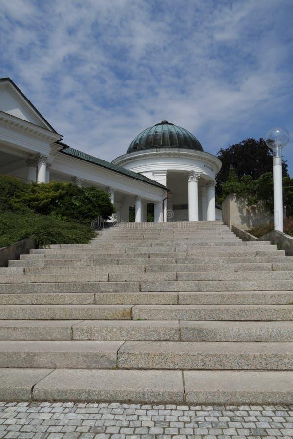 柱廊marianske温泉 免版税库存图片