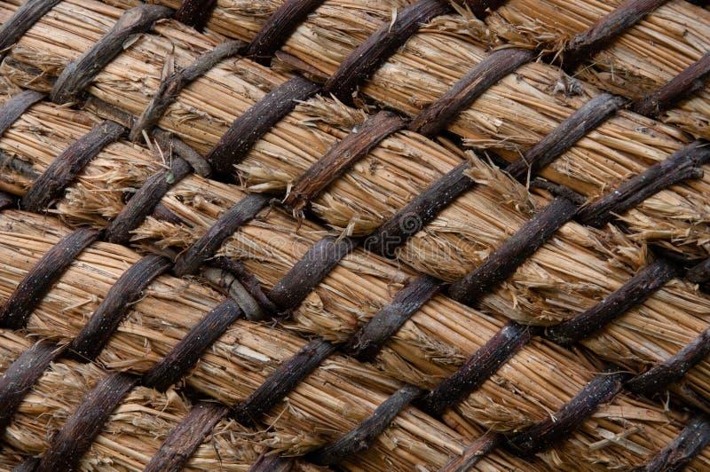 柳条或藤条篮子纹理 秸杆的篮子 高分辨率无缝的纹理 免版税库存图片