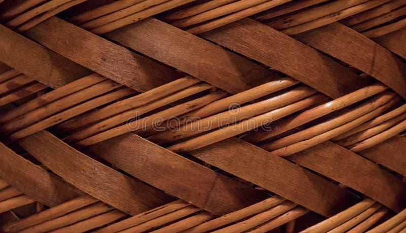 柳条或藤条篮子纹理 高分辨率无缝的纹理 库存照片