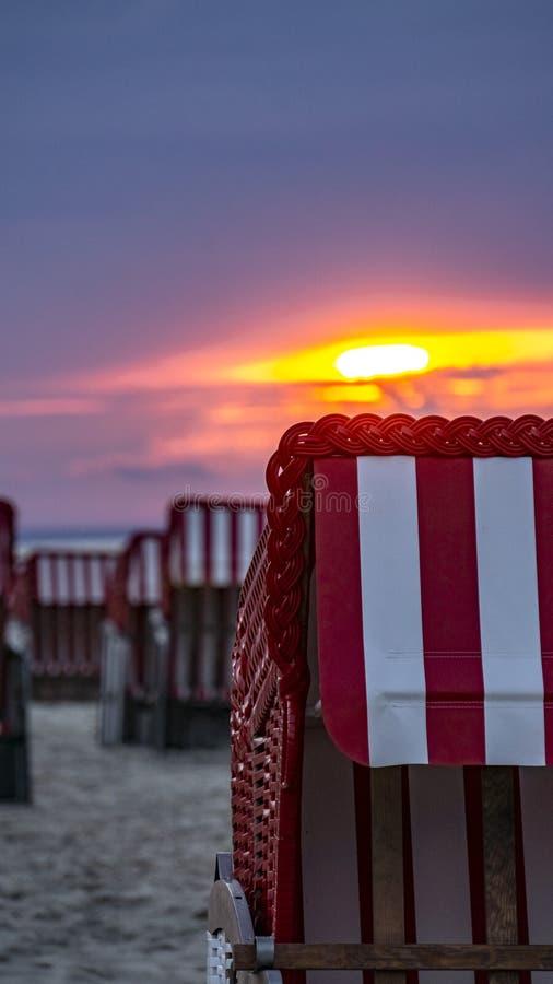 柳条海滩客舱 库存照片
