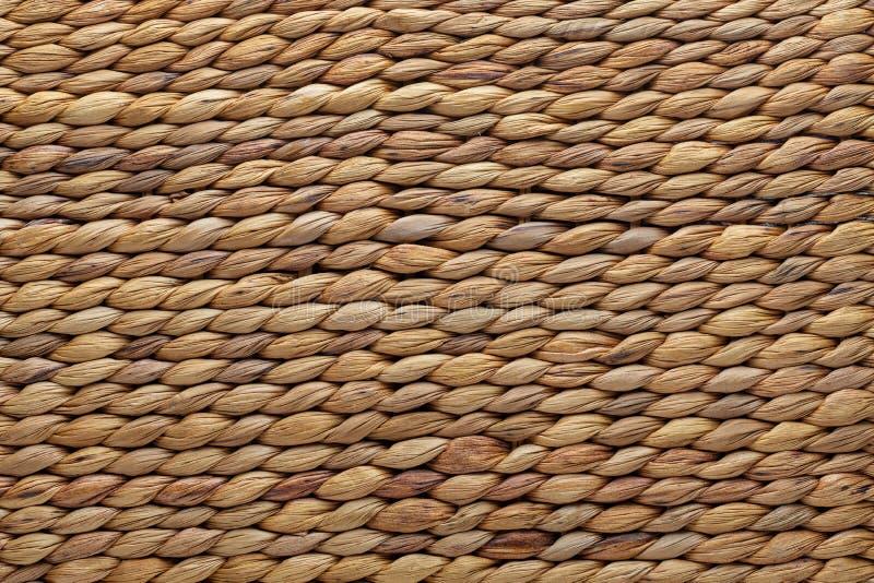 柳条筐纹理 天然纤维 免版税库存图片