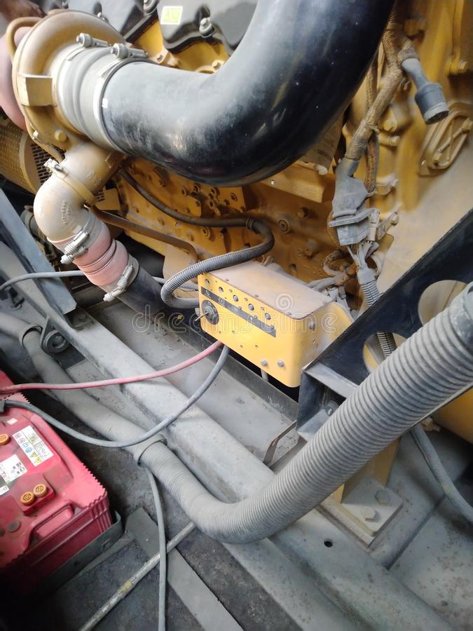 柴油发电器 库存照片