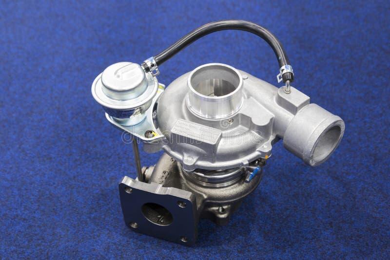 柴油引擎的涡轮充电器零件 库存图片