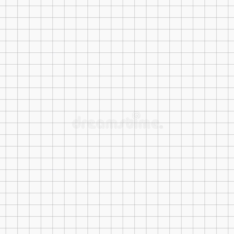 栅格灰色传染媒介无缝的样式 类似于纸片在细胞的 几何反复性的简单的镶边纹理 库存例证