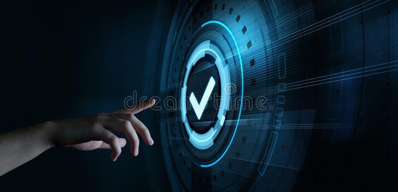 标准质量的控制证明保证保证概念 免版税库存照片