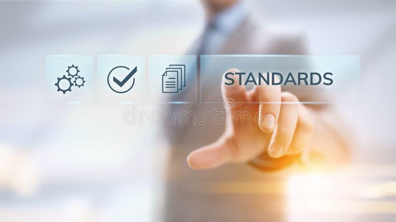 标准质量管理控制标准化和证明概念 库存例证
