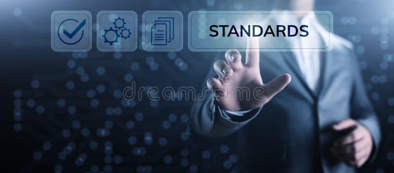 标准质量管理控制标准化和证明概念 库存照片