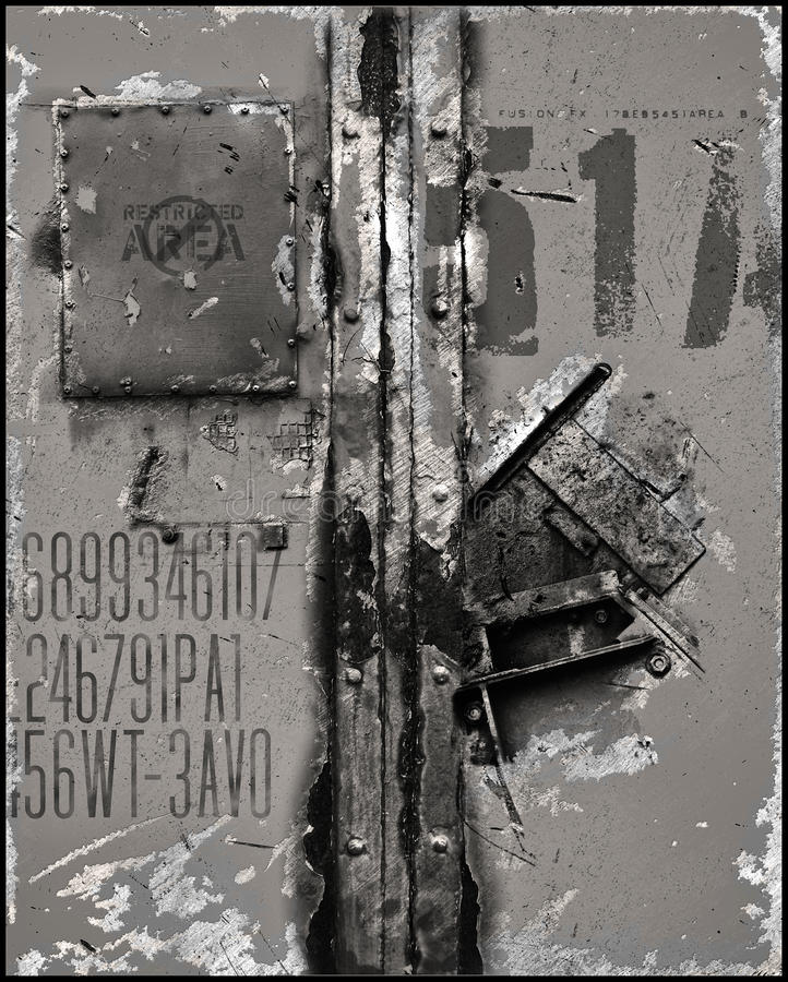 标号金属化被抓的表面 库存例证